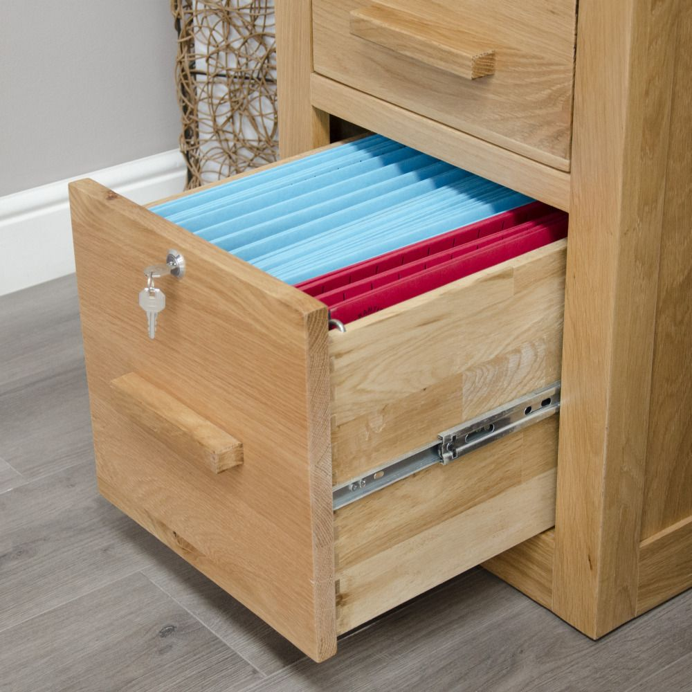 Furniture With Prices: Arden Solid Oak Furniture Lockable Filing Cabinet
