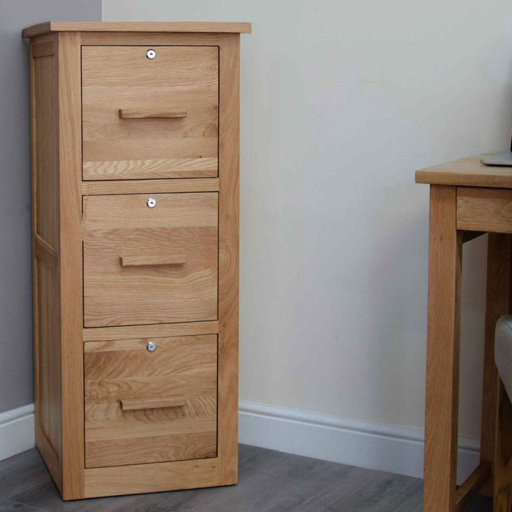 reputable site a1426 818c6 Arden Solid Oak Furniture Three Drawer Filing Cabinet