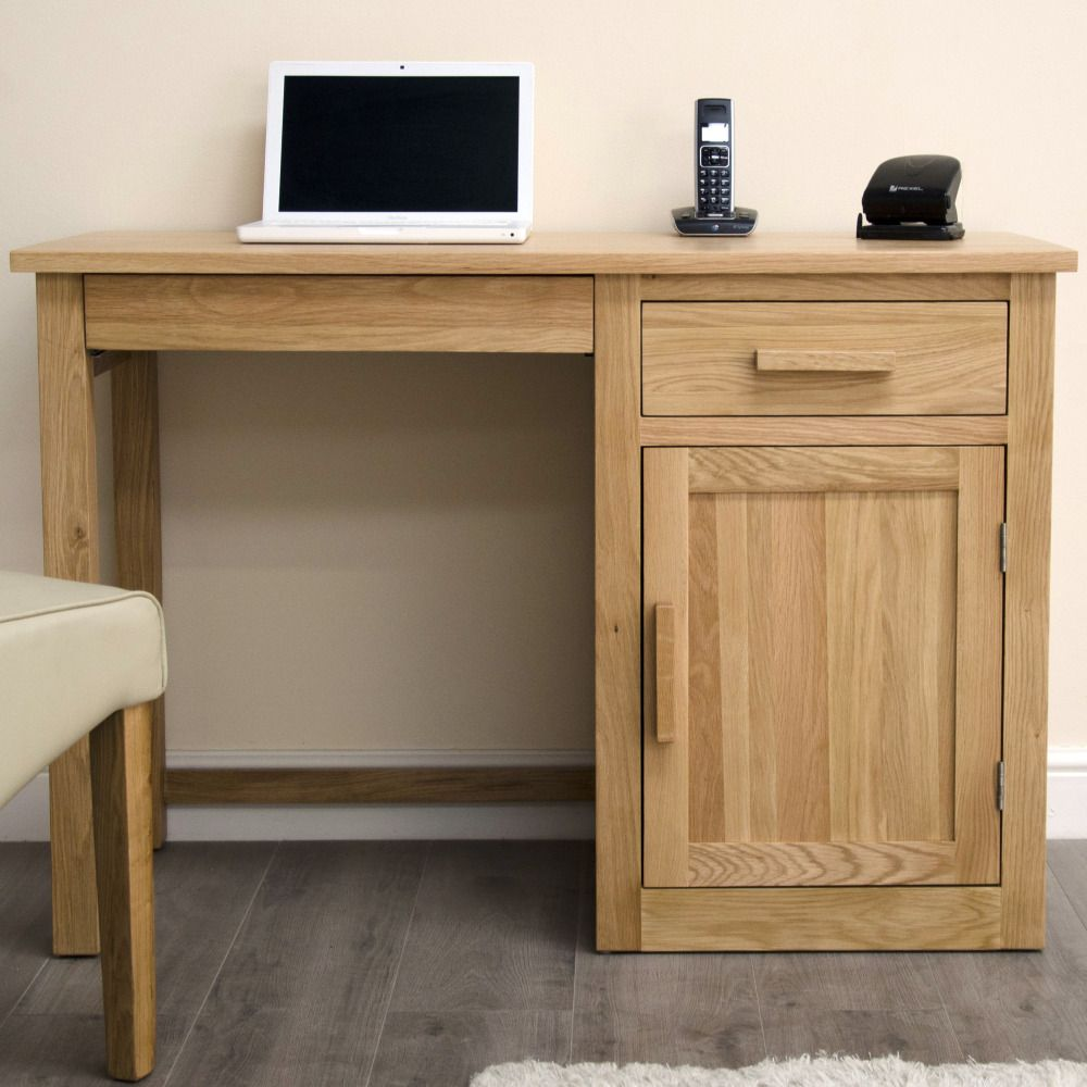 Arden Solid Oak Furniture Small Computer Desk
