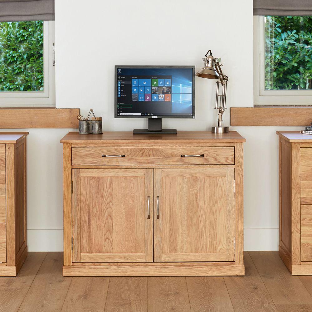 Mobel Solid Oak Furniture Hidden Home Office Computer Desk