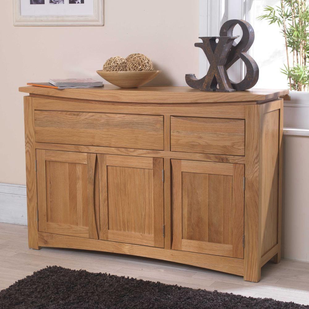 Crescent Solid Oak Furniture Large Sideboard Madewithoak
