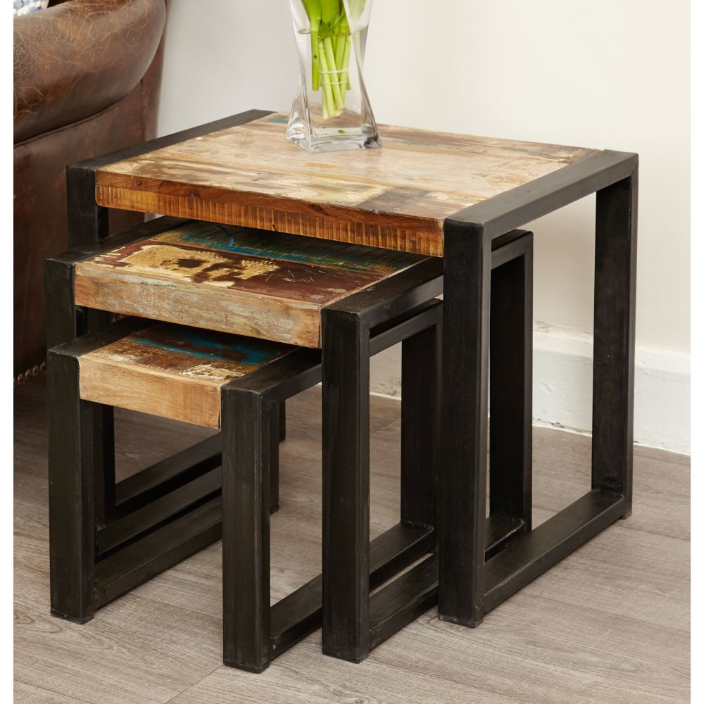 Urban Chic Reclaimed Furniture Nest Of Tables