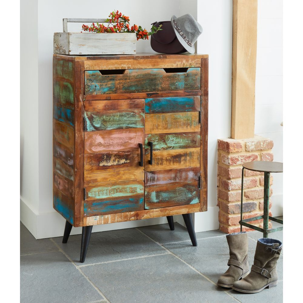 Coastal Chic Reclaimed Furniture Shoe Cupboard