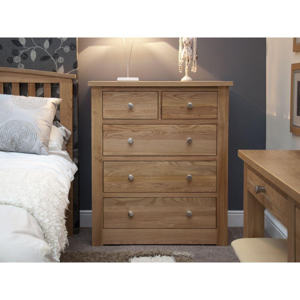 torino solid oak furniture 2 over 3 chest of drawers sale. Black Bedroom Furniture Sets. Home Design Ideas