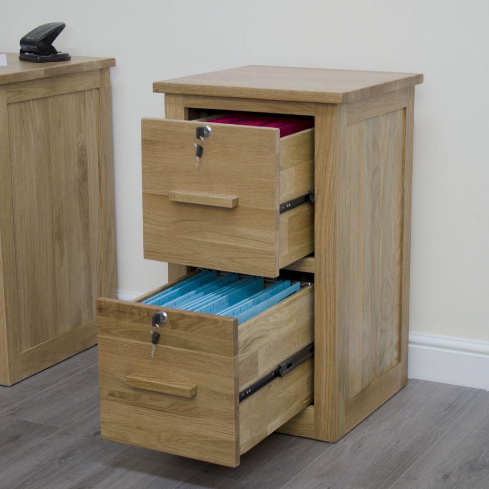 Arden Solid Oak Furniture Desk And Filing Cabinet Package