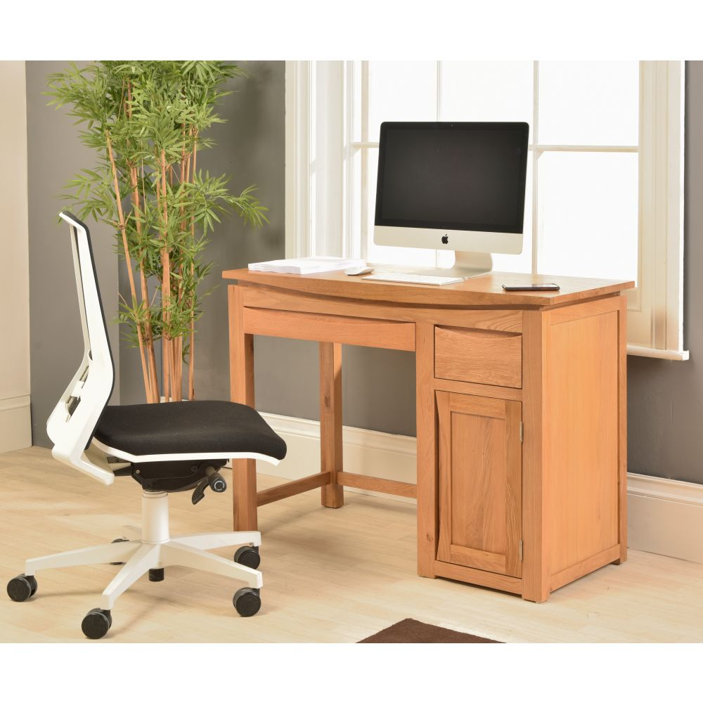 Crescent Solid Oak Furniture Small Computer Desk