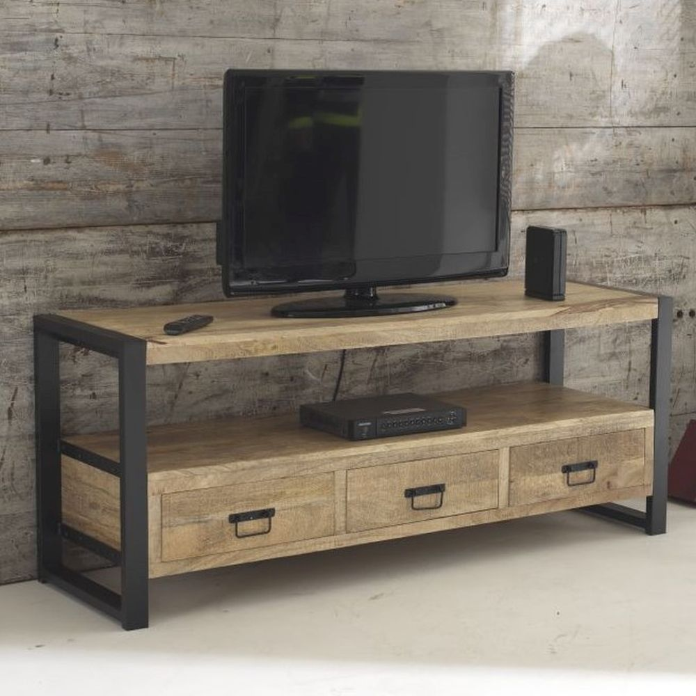 Harbour Indian Reclaimed Wood Furniture Medium Television Cabinet