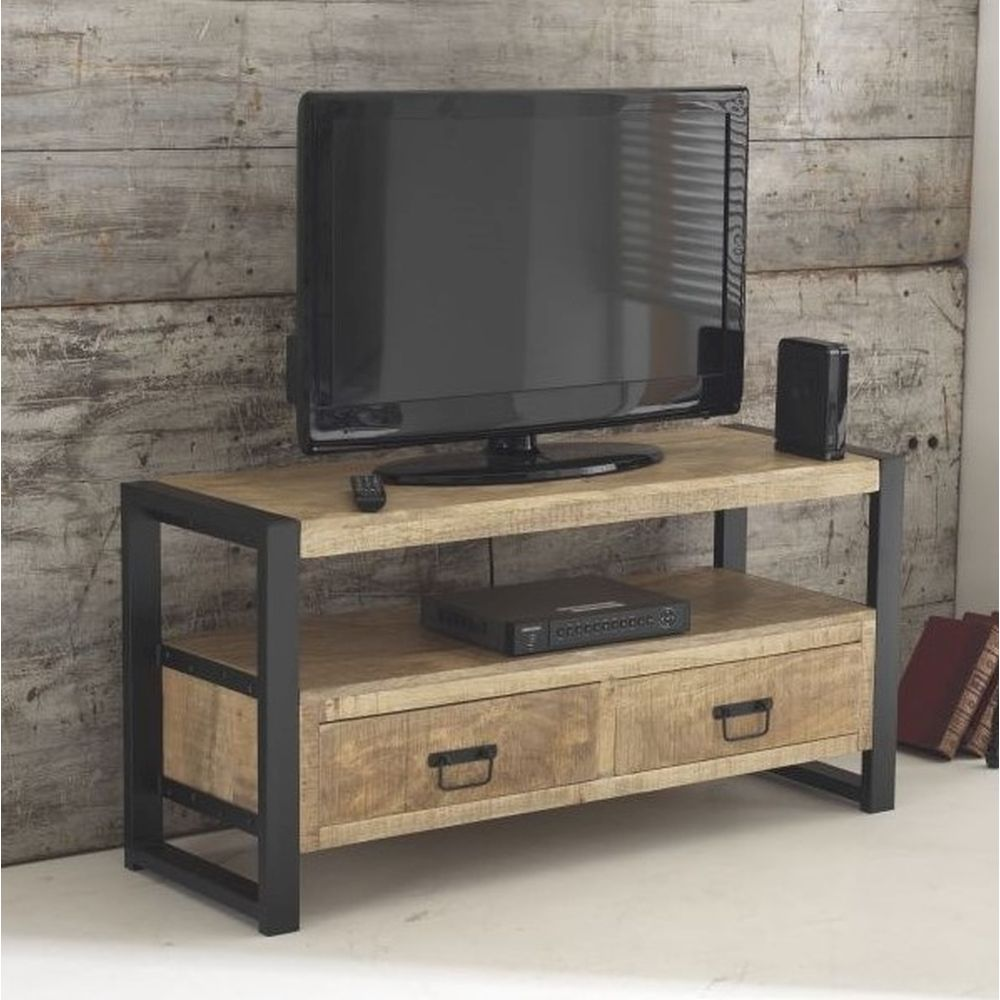 Harbour Indian Reclaimed Wood Furniture Small Television Cabinet