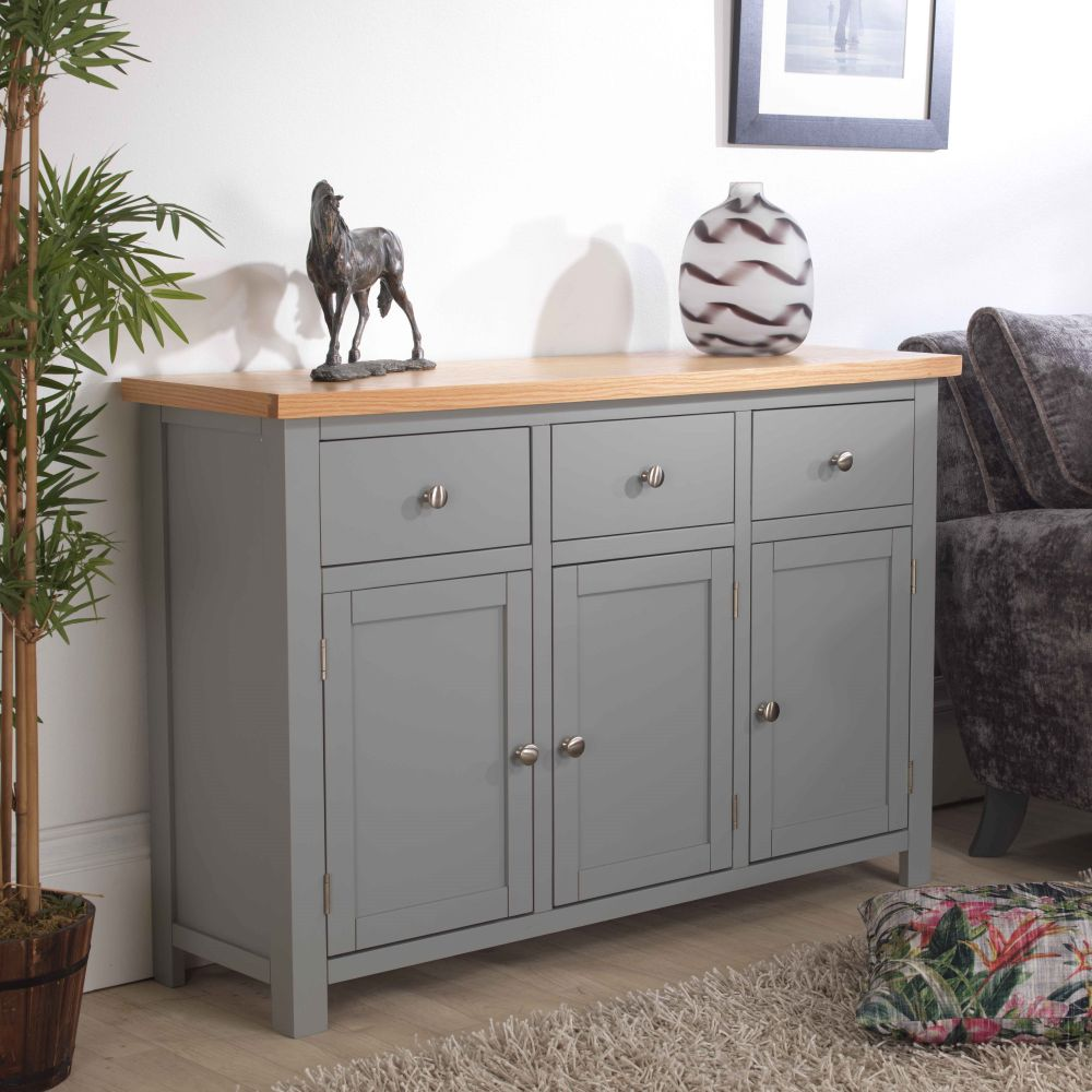 Richmond Grey Painted Large Sideboard