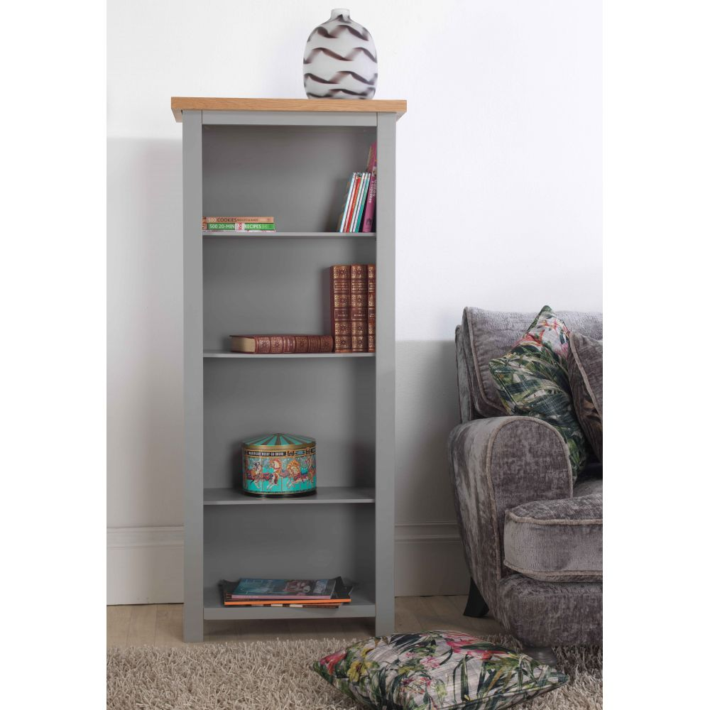 Richmond Grey Painted Furniture Narrow Bookcase
